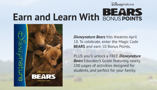 Disney Movie Rewards Bears Promotion For 10 FREE Points