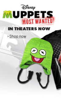 Amazon Banner Disney's Muppets Most Wanted Merchandise