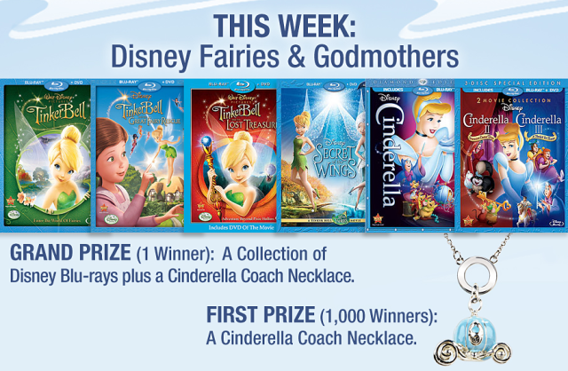 Disney Movie Rewards Splash Into Summer Giveaway Week 4 Disney Fairies and Godmothers