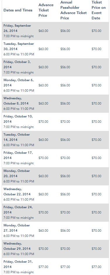 Halloween Time at Disneyland Resort Mickeys Halloween Party Dates and Prices