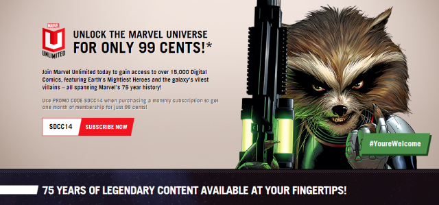 Marvel Comics Unlimited Access for 99 Cents 75 Years of Marvel